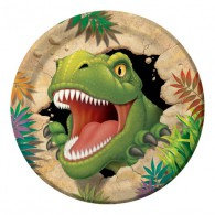 Dino Blast Dinner Plates Paper 23cm Pack of 8