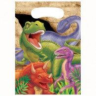 Dino Blast Loot Bags (16cm x 22cm) Plastic Pack of 8
