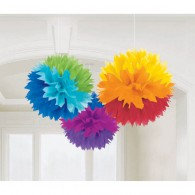 Fluffy Hanging Decorations Rainbow