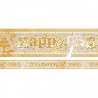 Banner Happy Engagement Foil Holographic