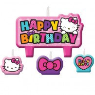 Hello Kitty Rainbow Candles Set