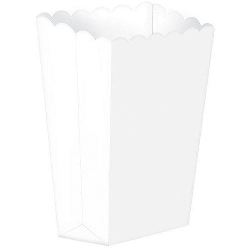Popcorn Favor Boxes Small White x 5