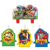 Paw Patrol Candle Set Happy Birthday