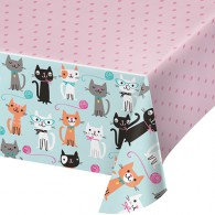 Purrfect Party Tablecover All Over Print Plastic