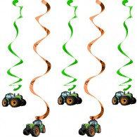 Tractor Time Dizzy Danglers Hanging Swirls
