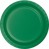 Emerald Green Dinner Plates Paper 23cm Pack of 24