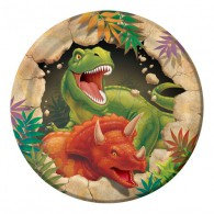 Dino Blast Luncheon Plates Paper 18cm Pack of 8