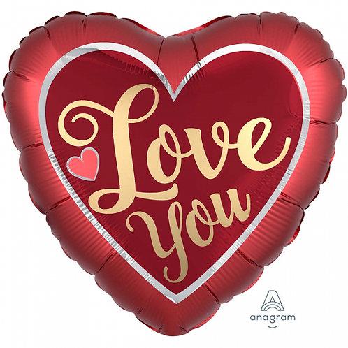 UMBO HX LOVE YOU SATIN SANGRIA & GOLD