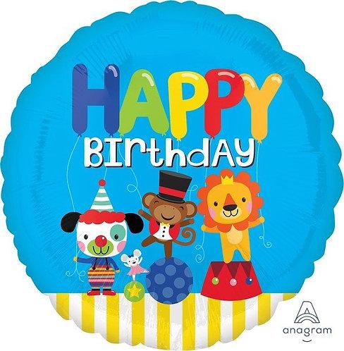 45cm Standard HX Happy Birthday Circus Fun S40