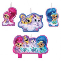 Shimmer & Shine Candle Set Happy Birthday