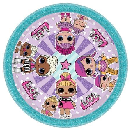 LOL Surprise 17cm Round Plates
