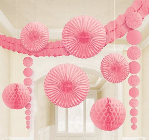 Damask Decorations Kit - New Pink