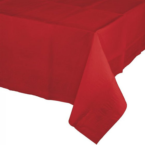 Classic Red Tablecover Tissue & Plastic Back