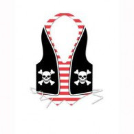 Vest Pirate - Plastic One Size Fits Most Each