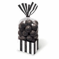 Favor Cello Party Bags Black & White