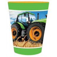 Tractor Time Cups Paper 266ml Pack of 8