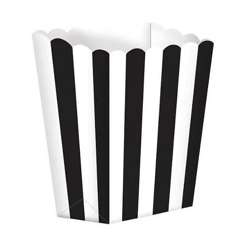 Favor Party Boxes Black & White Stripes