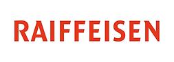 Logo Raiffeisen, rouge, sur fond blanc.p