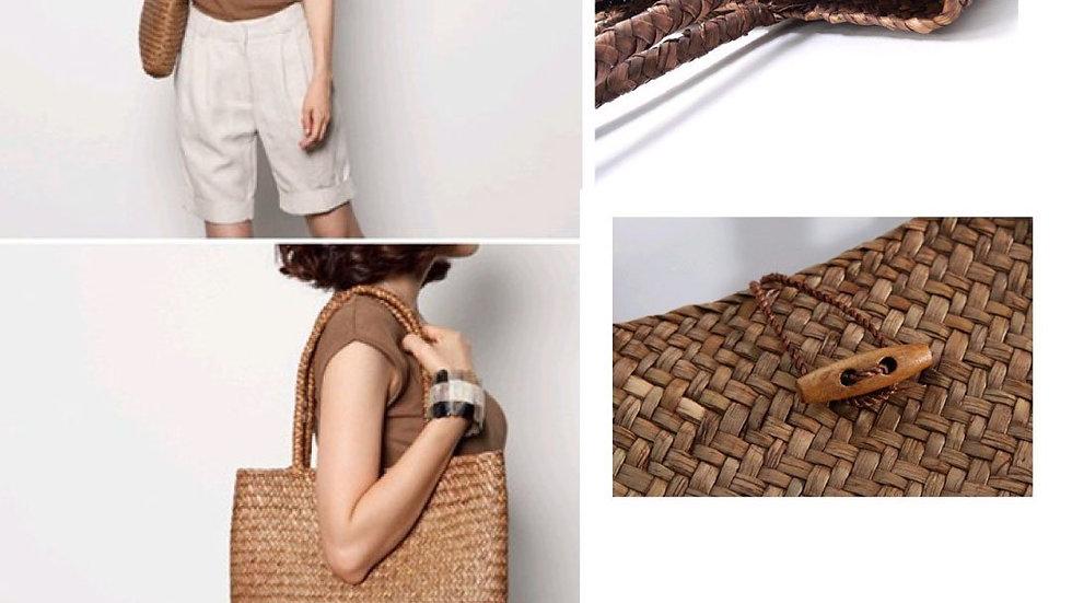 ClaudiaG Straw Shopping Bag