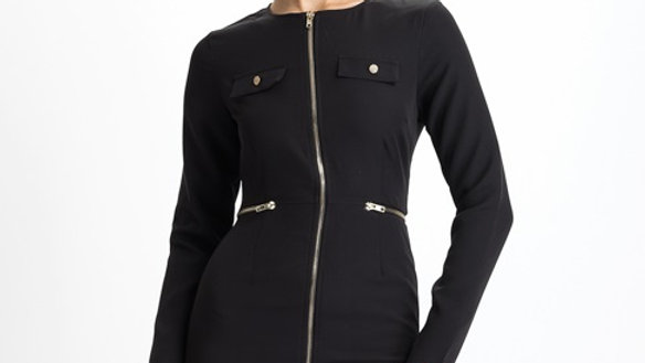 Women's Black Zipper Dress