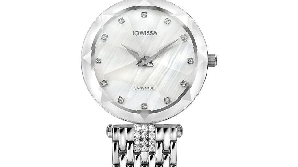 Facet Strass Swiss Ladies Watch J5.636.M