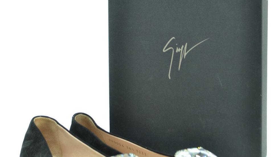 Giuseppe Zanotti Black Ballerina Flats (E960004)