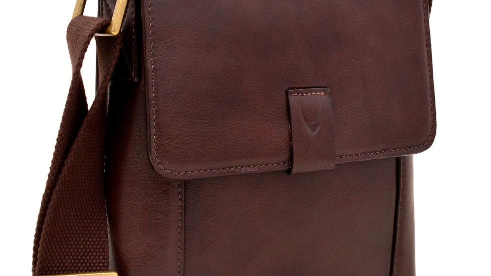 HIDESIGN Aiden Small Leather Messenger Crossbody Bag