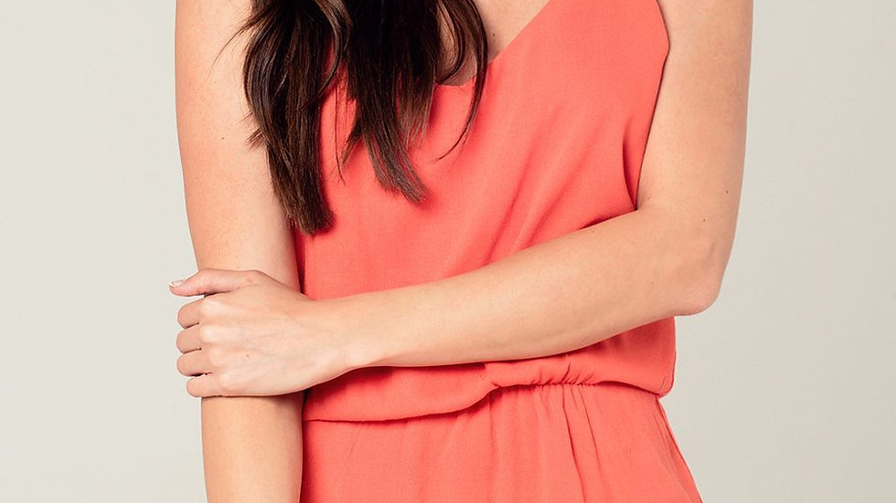 Women's Orange Mini Dress With Back Crochet Detail