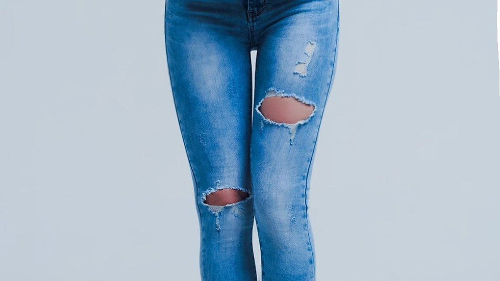 Women's Distressed Skinny Jeans
