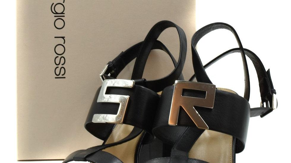 Sergio Rossi Logomaniac Heeled Sandals