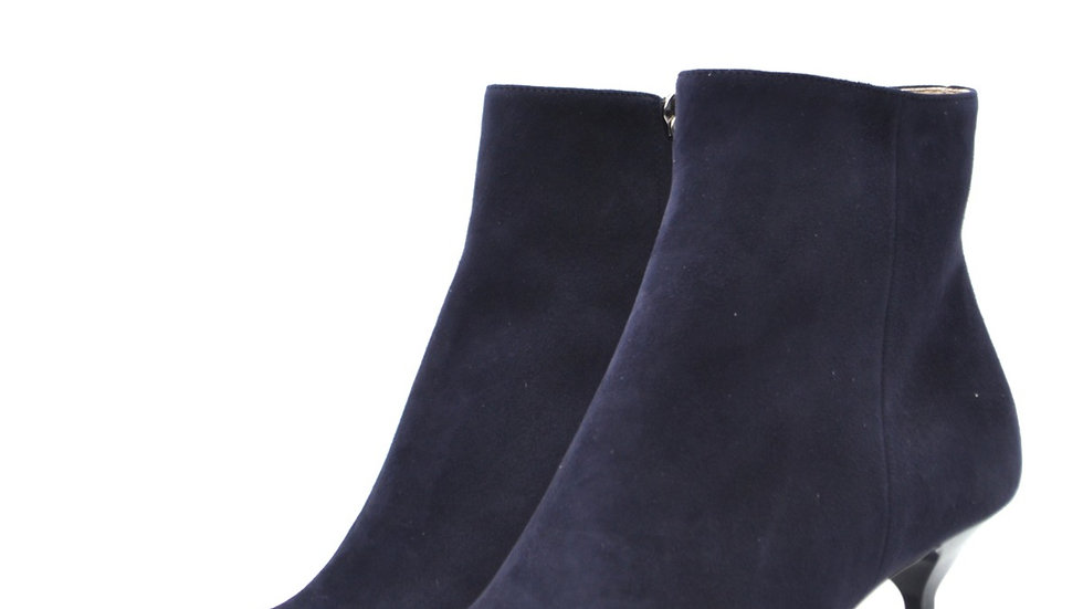 Prada Blue Suede Ankle Boots