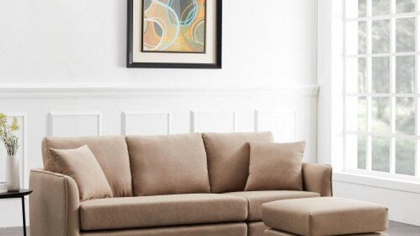 Living Room Brown  Fabric Corner Sofa