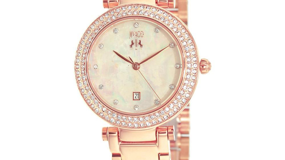 Jivago Women's Parure Rosetone Stainless Steel Wristwatch