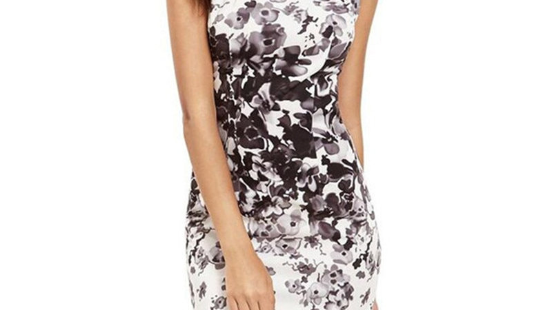 Women's Slim Vintage Floral Print Dress