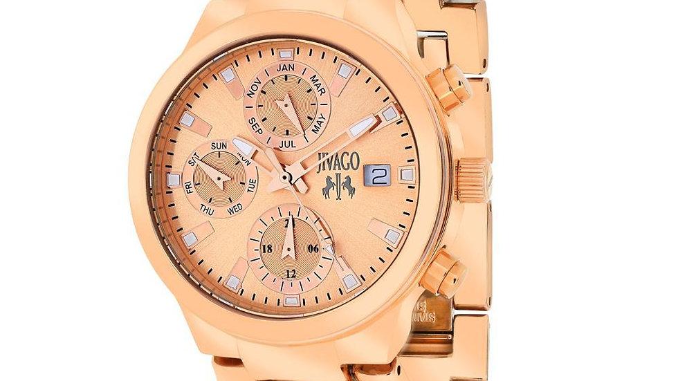 Jivago Women's Levley Rose Tone Wristwatch
