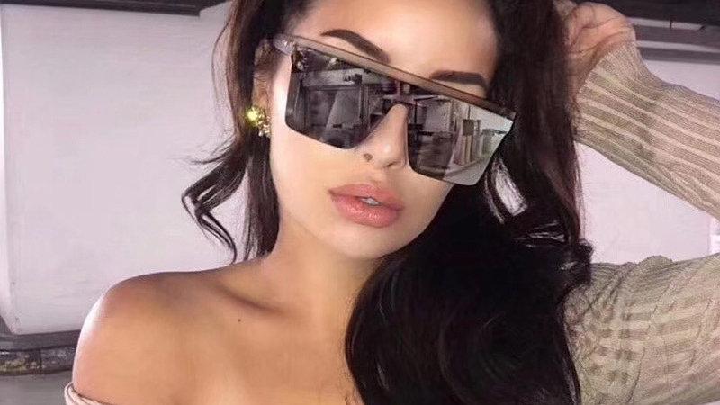 Luxury Designer Square Vintage Women Sunglasses