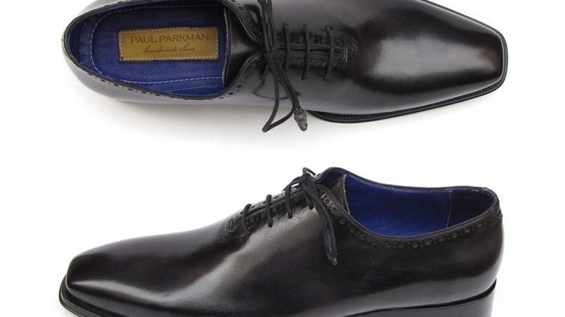 Men's Plain Toe Oxfords Whole-Cut Black