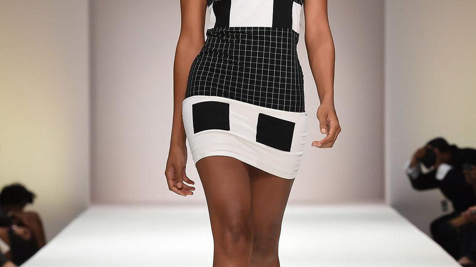 Women's  Bold Black & White Dress