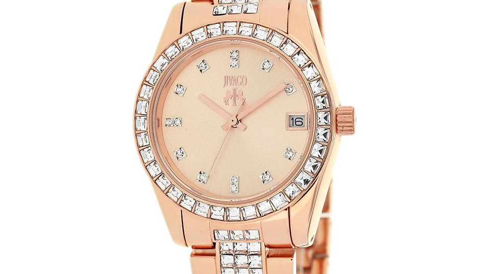 Jivago Women's Magnifique Analog Display Quartz Gold Wristwatch