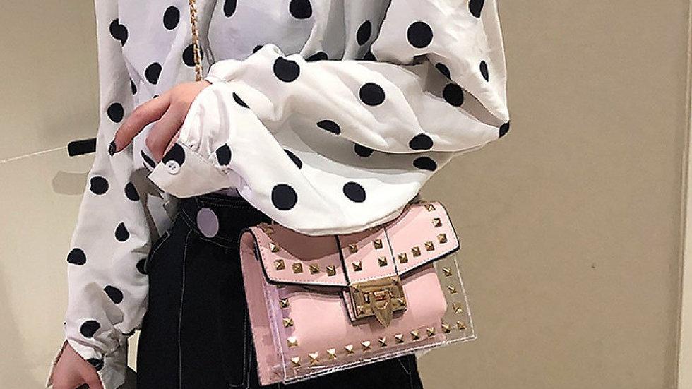 ClaudiaG Betty Shoulder Bag -Clear/Rose