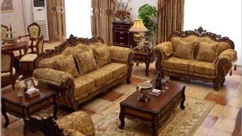 Living Room Furniture Modern Fabric Sofa European Sectional Sofa Set 10246