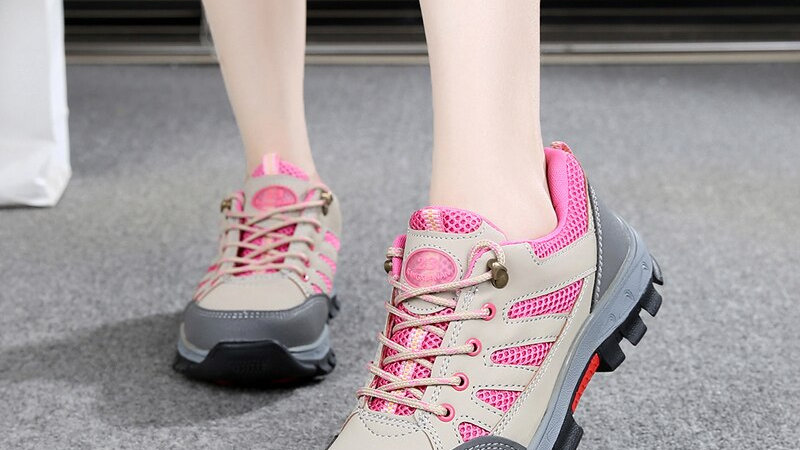 Women's Pink Lightweight Safety Work Shoes