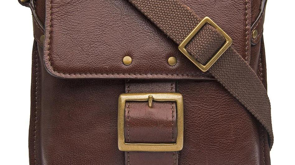 Vespucci Small Genuine Buffalo Leather Crossbody Bag