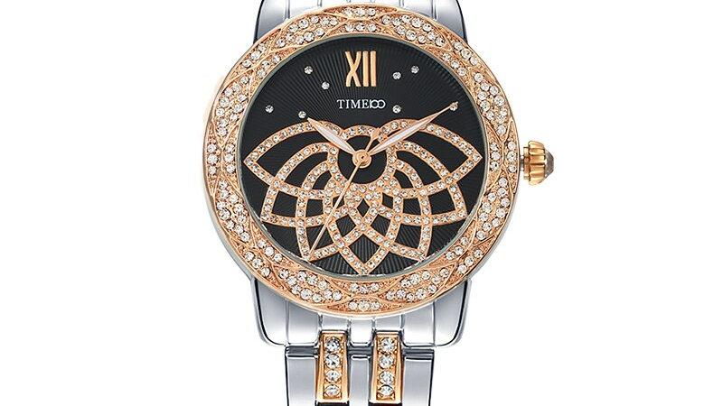 Women's Waterproof Crystal Quartz Wrist Watch