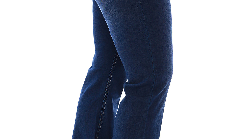 360 Stretch Mid-Rise Straight Denim Jeans in Blue Depths