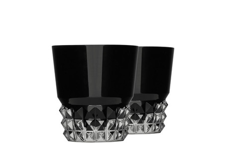 Saint Laurent Joins Baccarat for Premium Crystal Tumblers / With a textured diamond pattern.