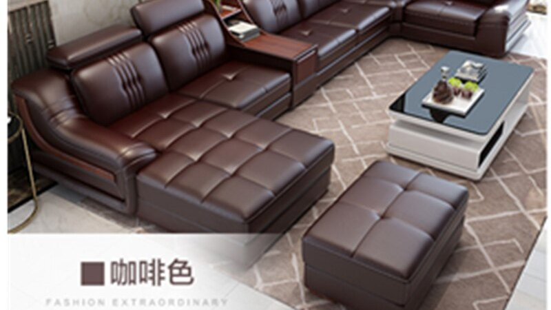 Luxury Design Living Room Leather Sofa Set