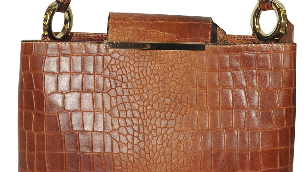 Misty U.S.A. Cowhide Leather Handbags Made In Italy [YG8111-BN]