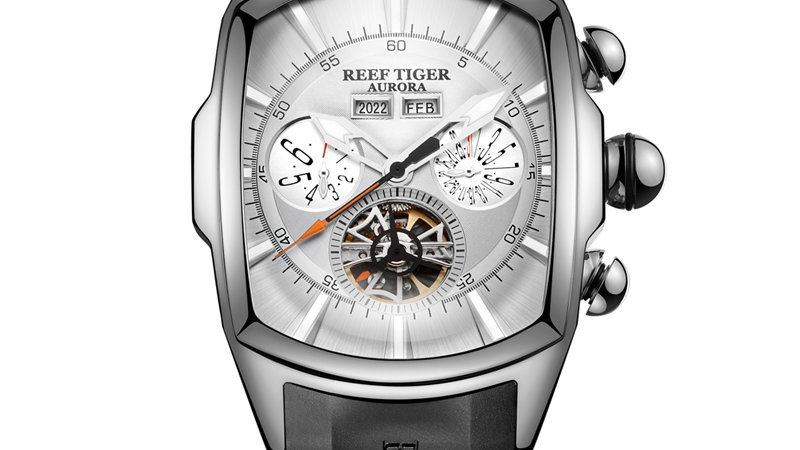 Reef Tiger/Rt Luxury Men's Tourbillon Analog Automatic Watch