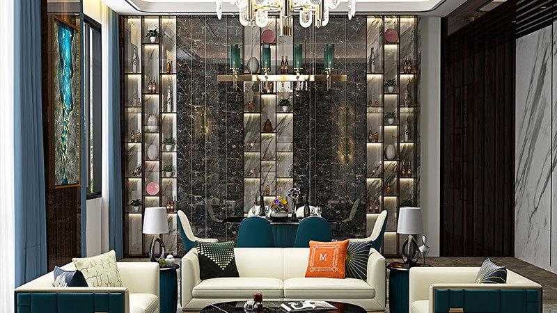 Living room Sofa set , PU Sofa, Modern Daybed, 123